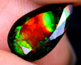 1.48cts Natural Ethiopian Welo Faceted Smoked Opal / HM2115