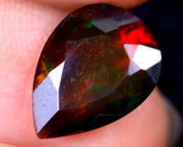 1.99cts Natural Ethiopian Welo Faceted Smoked Opal / HM2118