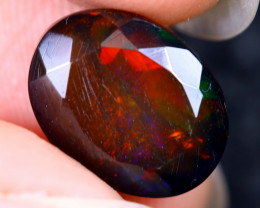 2.48cts Natural Ethiopian Welo Faceted Smoked Opal / HM2130