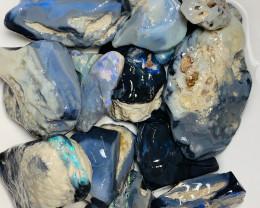 Big Blacks- 1000 CTs Big Size Rough Black Opals #391