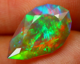 2.08Ct Chaff Fire Pattern Metallic Rainbow Flash Color Welo Opal E2601
