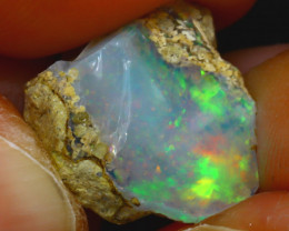 7.80Ct Multi Color Play Ethiopian Welo Opal Rough J2910/R2