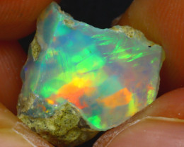 5.45Ct Multi Color Play Ethiopian Welo Opal Rough J2913/R2