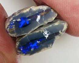 Split- Black Nobby Opal Split With Vibrant Blue Bar#405