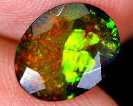 1.70cts Natural Ethiopian Welo Faceted Smoked Opal / HM2159