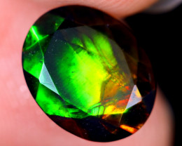 1.30cts Natural Ethiopian Welo Faceted Smoked Opal / HM2170