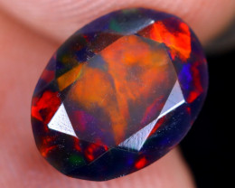 1.34cts Natural Ethiopian Welo Faceted Smoked Opal / HM2173