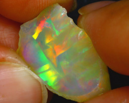 10.50Ct Multi Color Play Ethiopian Welo Opal Rough HR144/R2