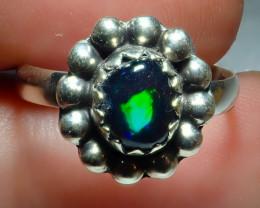7.2sz Ethiopian Welo Opal .925 Sterling Silver Ring
