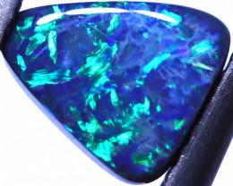 0.76 Carats  N3  Black Solid Opal Lightning Ridge ANO-1444