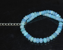 20.80 CT OPAL BRACELET MADE OF NATURAL ETHIOPIAN BEADS STERLING SILVER OBB1