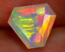 2.41Ct Bamboo Leaf Pattern Broad Flash Color Welo Opal E2801