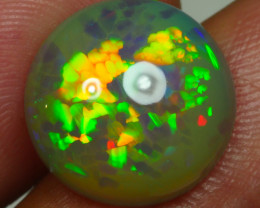 4.255 CRT DARK BASE ROUND NEON HONEYCOMB PATTERN DELUXE COLOR WELO OPAL