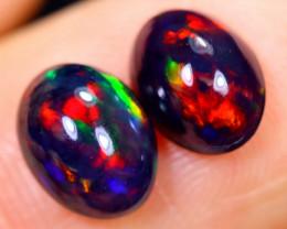 1.62cts Natural Ethiopian Smoked Welo Opal Earing Pairs / NY1251