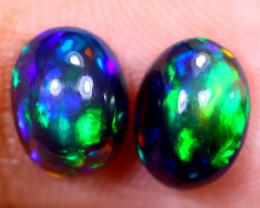 1.86cts Natural Ethiopian Smoked Welo Opal Earing Pairs / NY1269