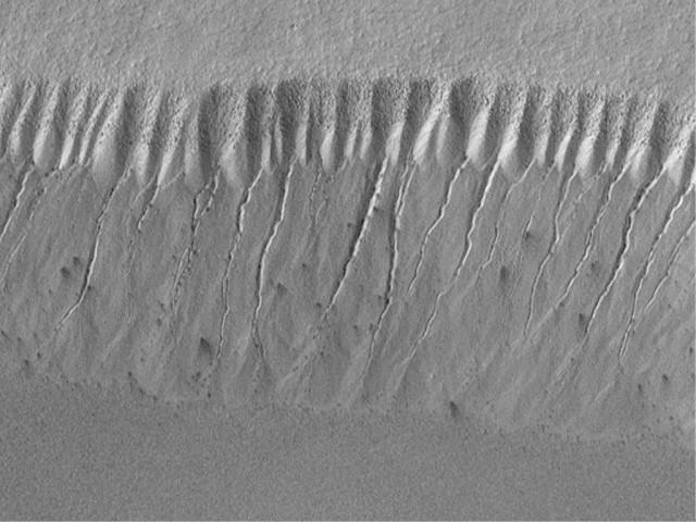 Water flowing on mars