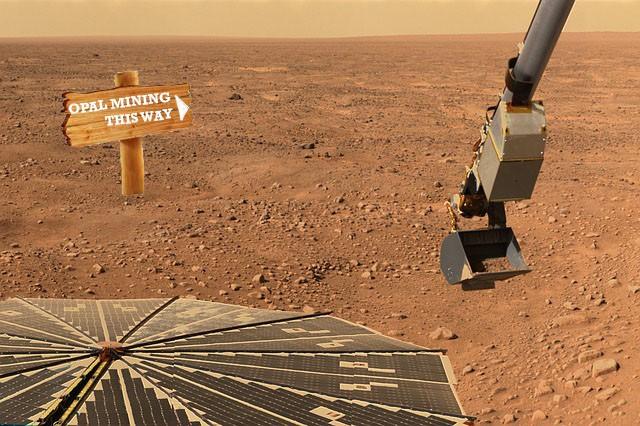 OPAL MINING ON MARS