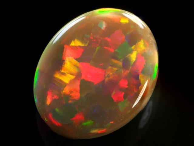 harlequin pattern ethiopian opal