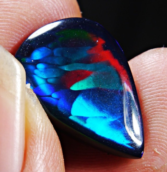 dark black smoked ethiopian opal