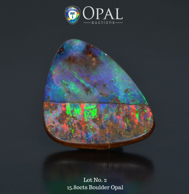 rarities auction by opal auctions - lot 2 1580cts boulder opal