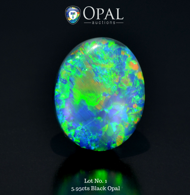 Rarities auction - lot 1 595cts Black Opal