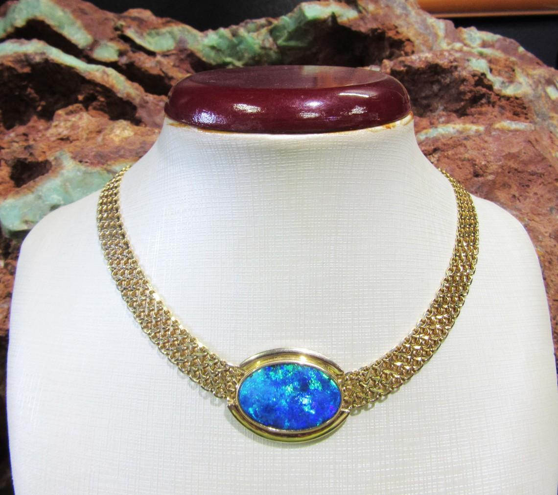 black opal penadnt