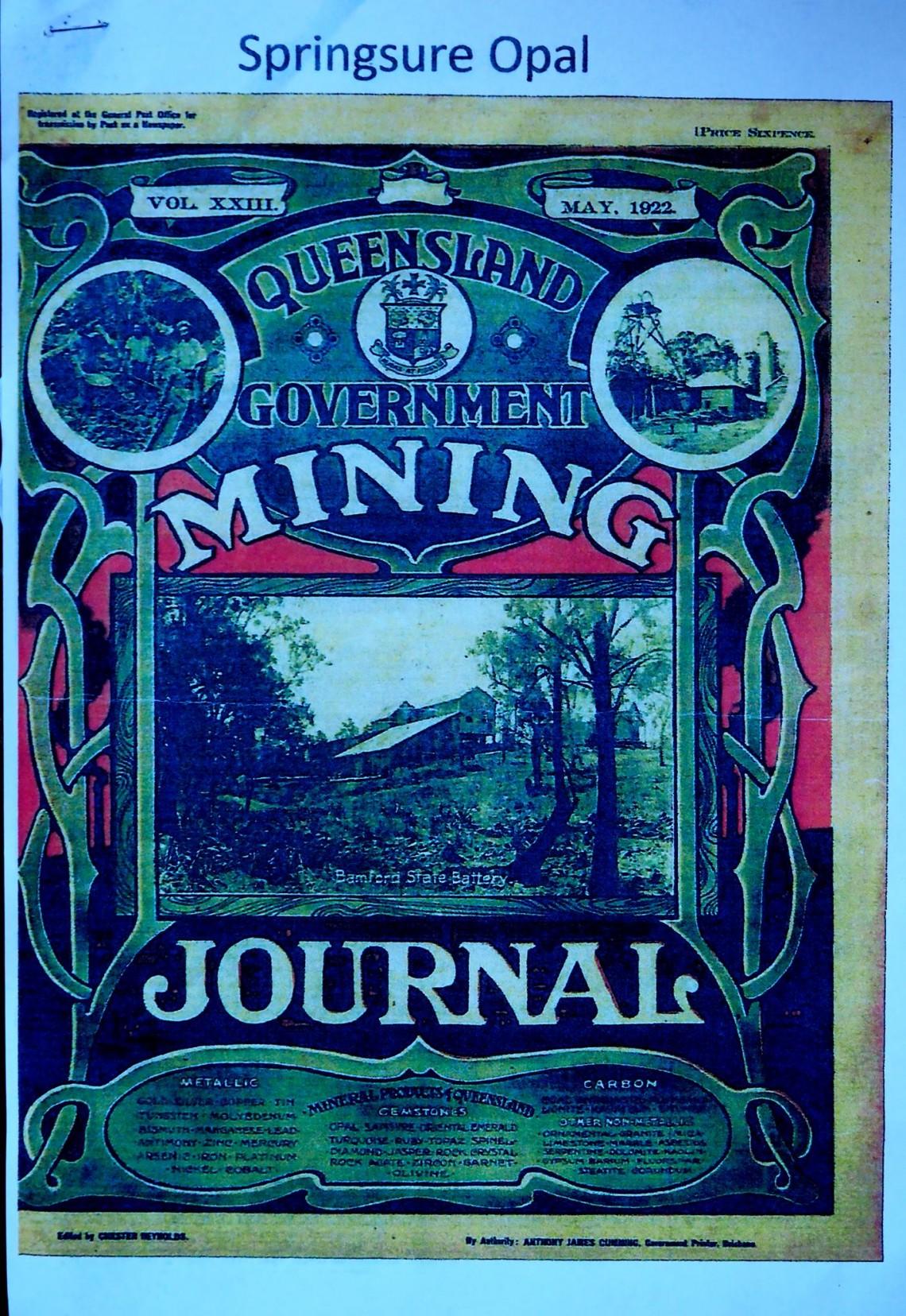 List Of Queensland Opal Mining Fields | Opal Auctions
