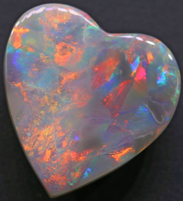 Natural opal solid love heart