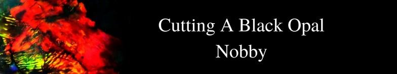 Cutting a black opal nobby