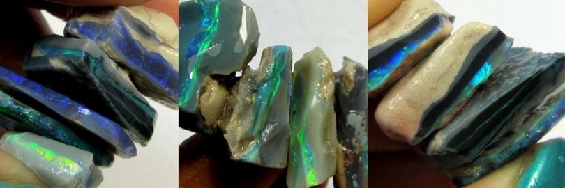 black opal rough