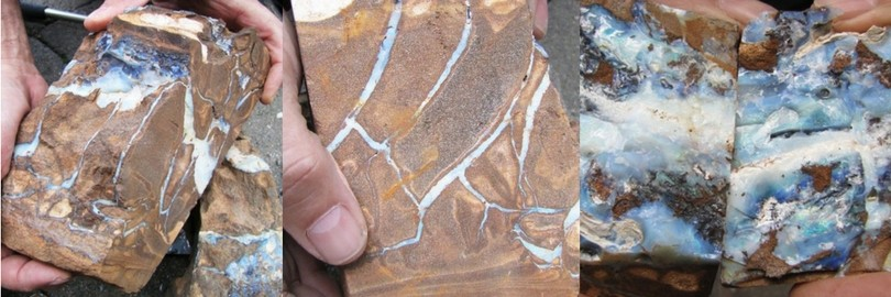 splitting boulder opals