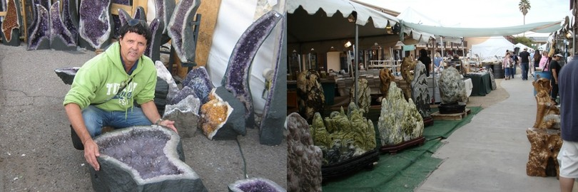 amethyst and gemstones at Tucson gem show