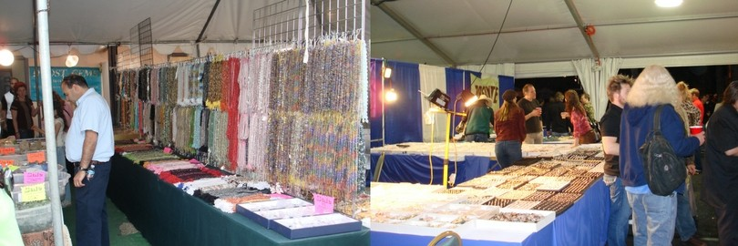 gem stone beads and stalls at tucson gem show
