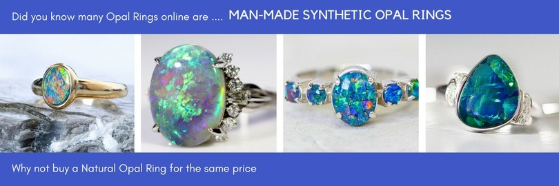 Man-Made Synthetic Opal Rings