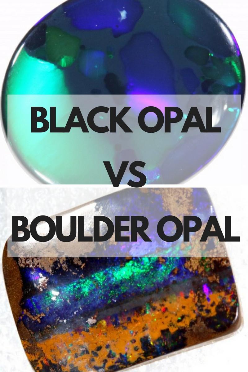 Black Opal VS Boulder Opal