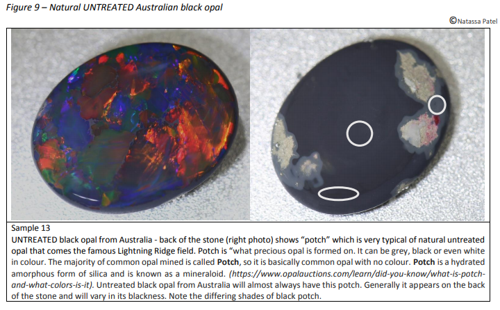 Natural Untreated Australian Black Opal