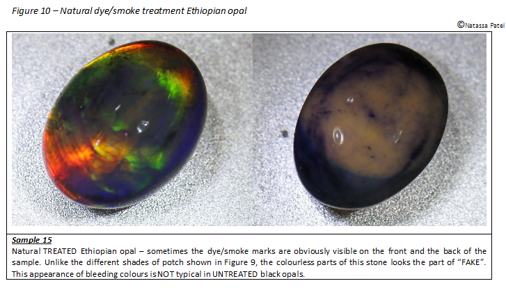 Natural dyed smoke treatment Ethiopian Opal