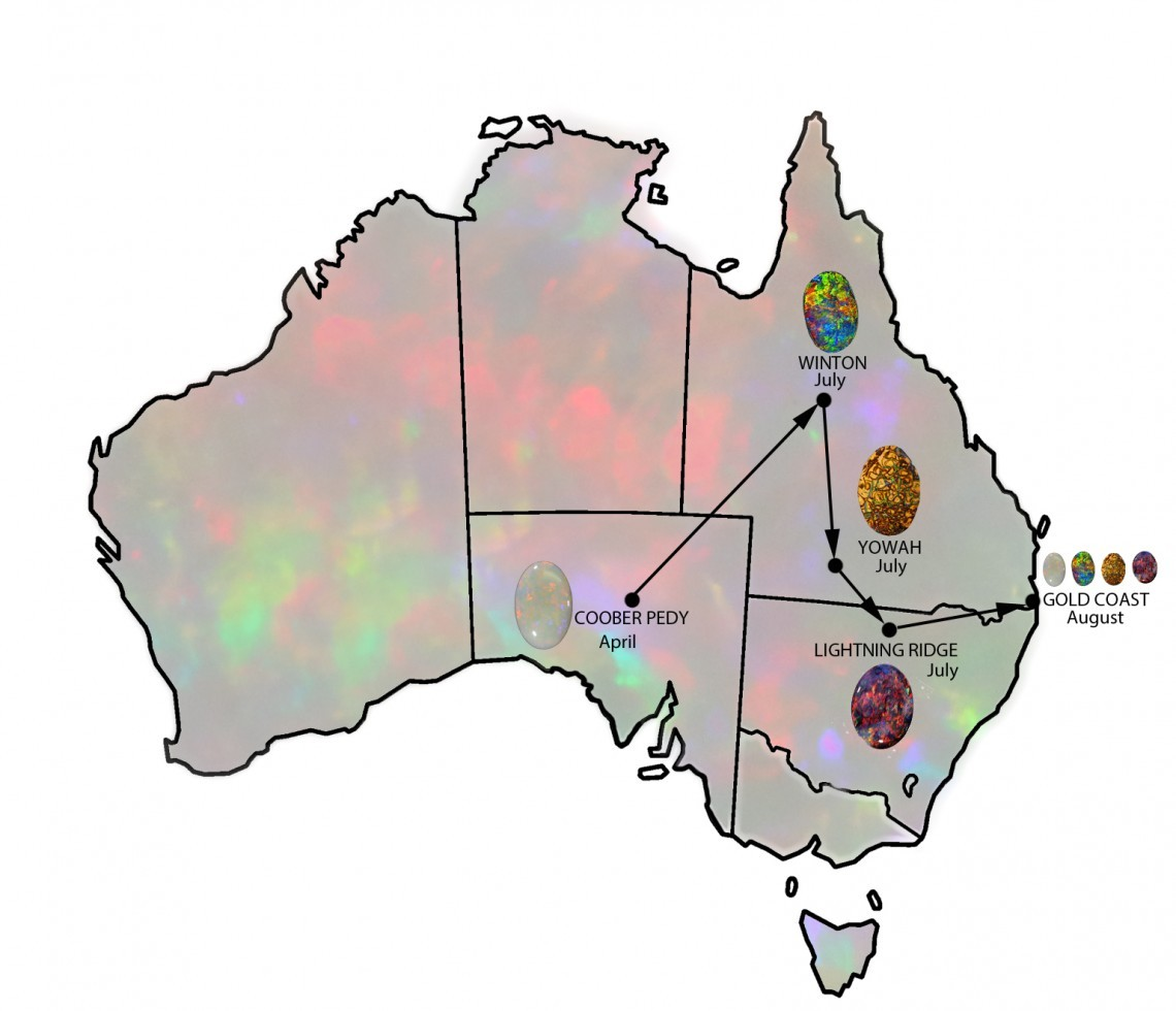 July 2018 - Australian Opal Show Circuit Review