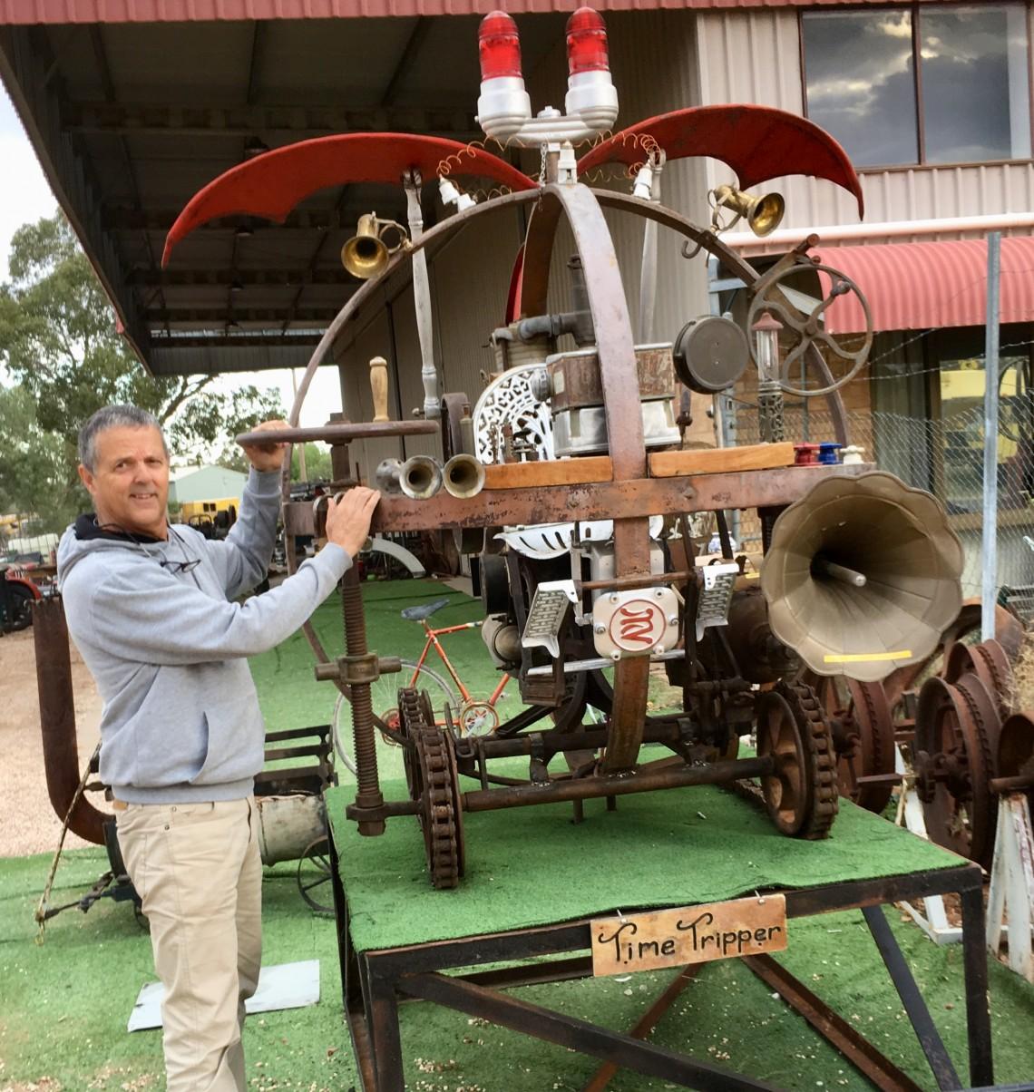 Time machine in opal mining town Lightning Ridge