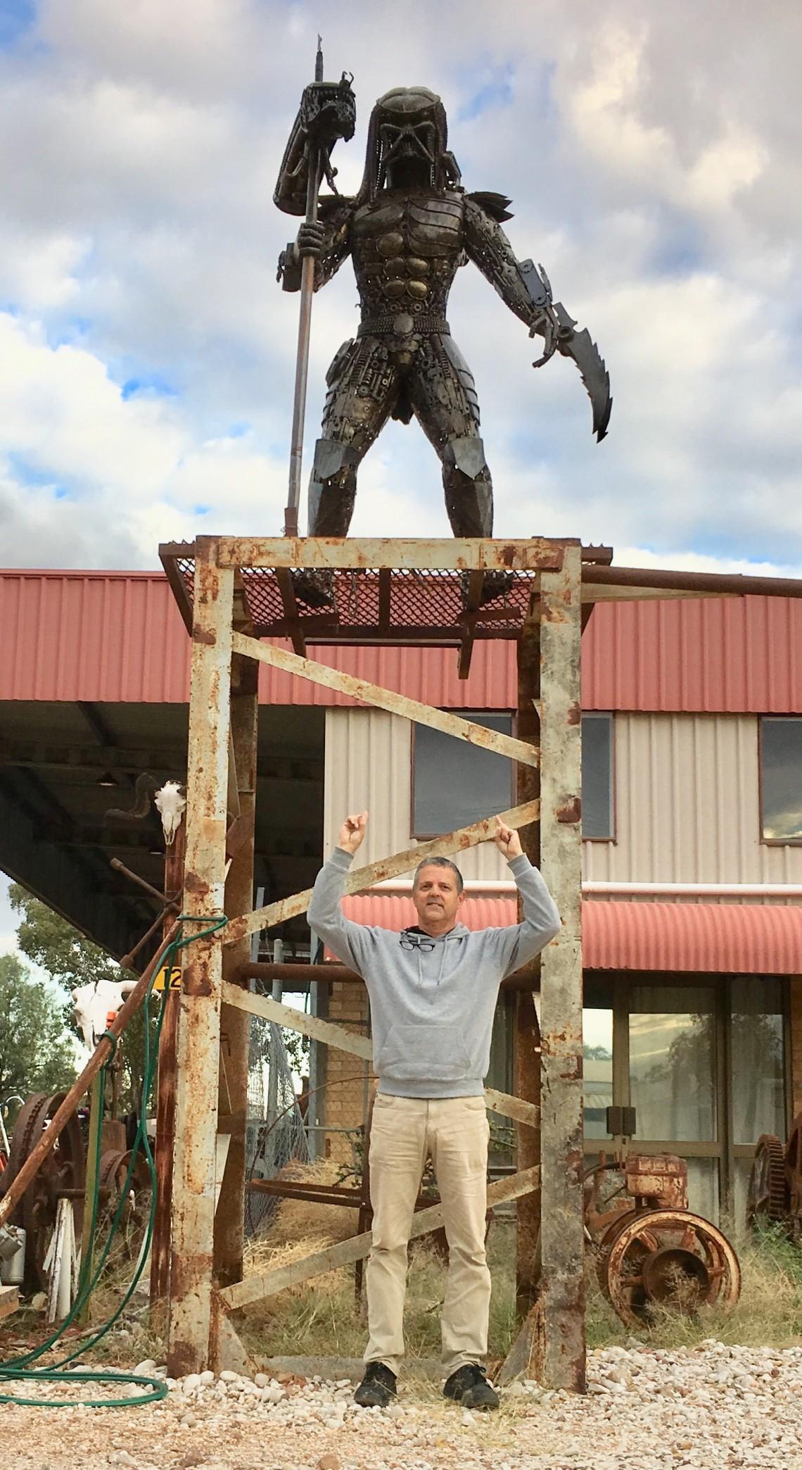 Predator memorabilia Lightning Ridge opal mining town