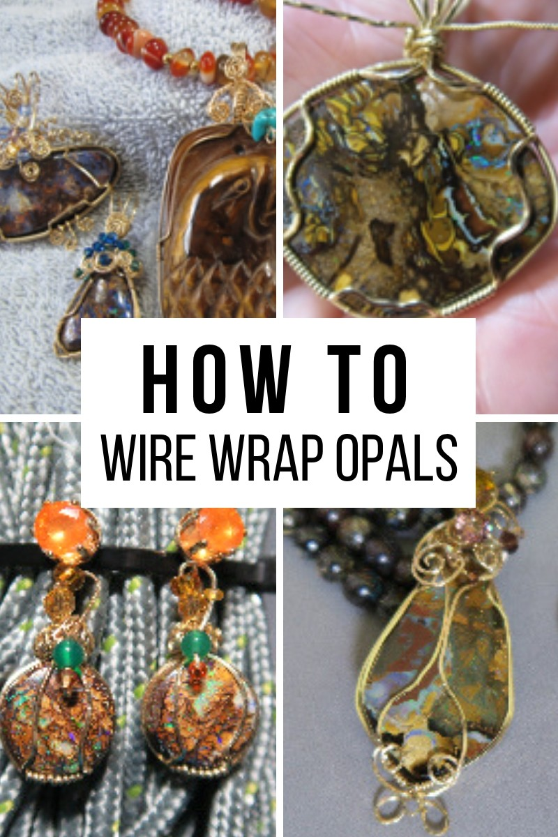 How to wire wrap opals