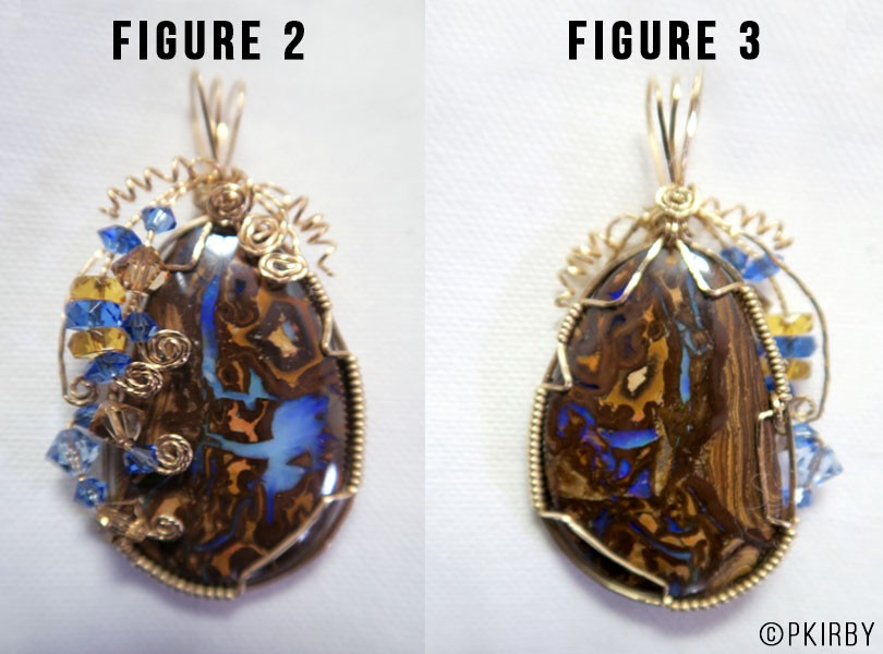boulder opal two sided pendant