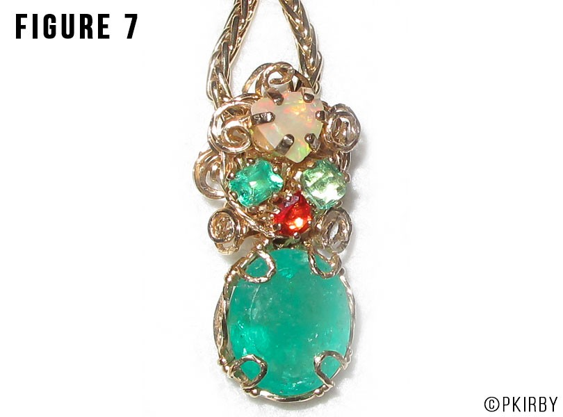 Emeralds ethiopian and fire opals
