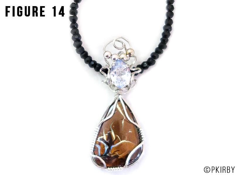 Boulder opal wire wrap pendant