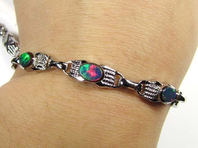 Silver Opal Bracelet