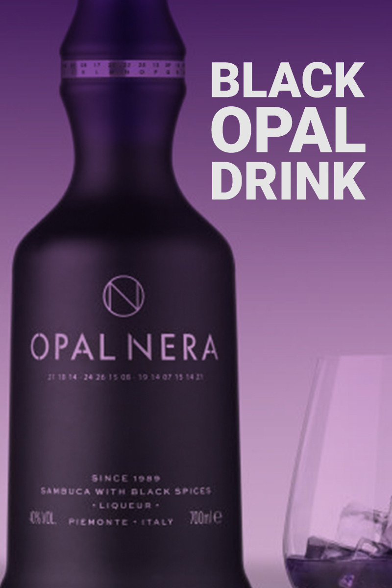 Black Opal Drink Cocktail Recipe - Play Of Color In A Cup
