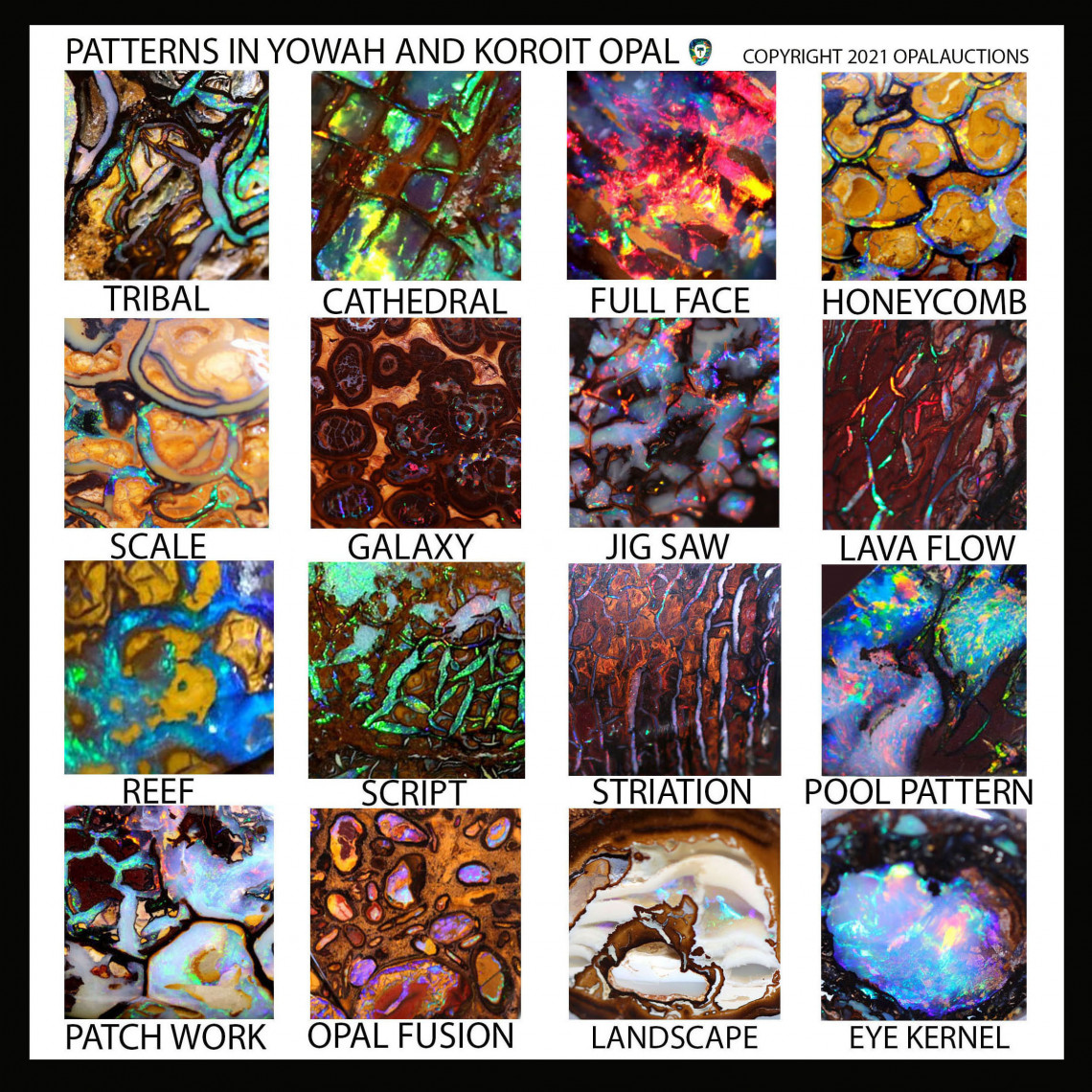 koroit and yowah opal patterns