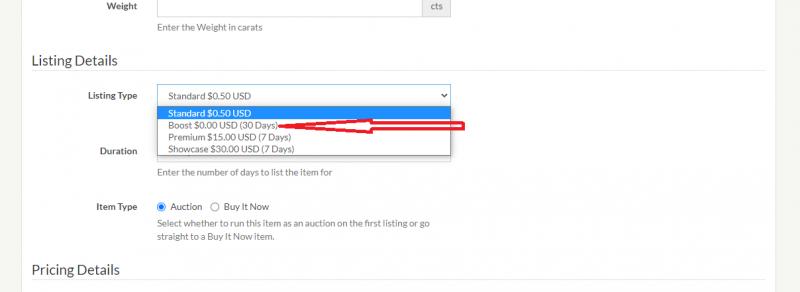 boost listing