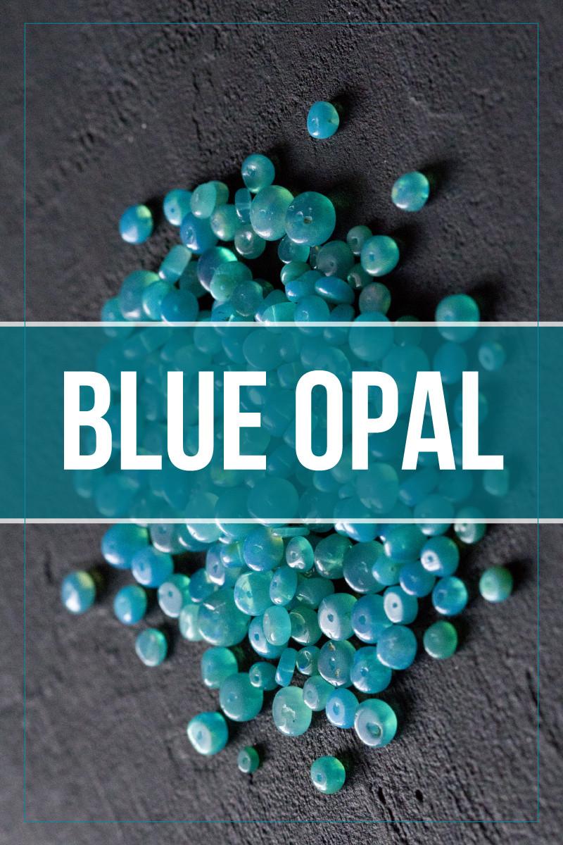 blue opal gemstone