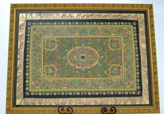 Opal Carpet - Framed Black Opal Rug